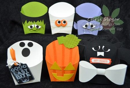 Halloween Fry Boxes made with Stampin' Up! Fry Box Die