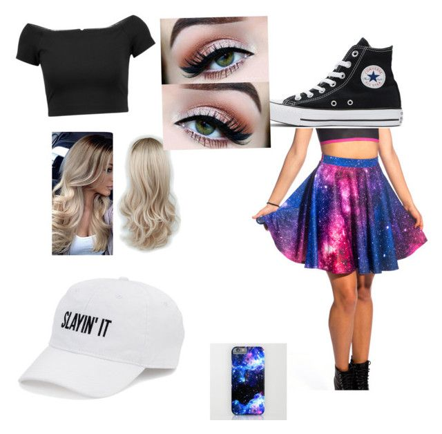 """Slay The Galaxy"" by lori-sansing on Polyvore featuring Alice + Olivia, SO and Converse"