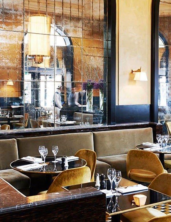 Restaurant Le Flandrin – Interior design by Joseph Dirand