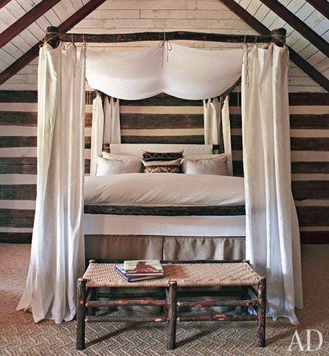 Beautiful canopy bed and iron chandelier. bedroom ideas