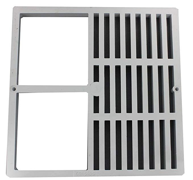 Endura 394712c 12 Inch By 12 Inch Half Grate Floor Sink Grate Review Floor Sink Sink Grate Sink