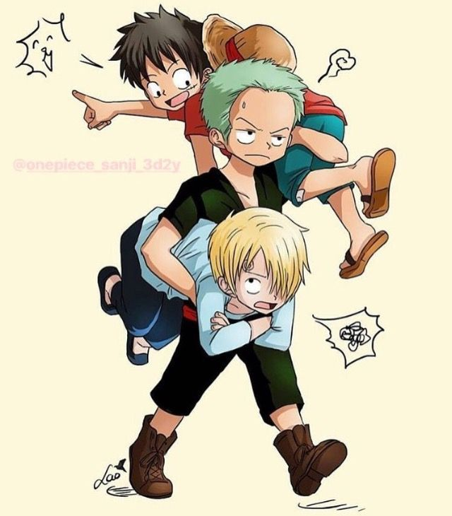 One Piece - Monkey D. Luffy, Roronoa Zoro, Sanji