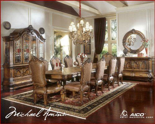 AICO Dining Set W/Leg Table Tuscano AI 34000 By AICO. $4880.00