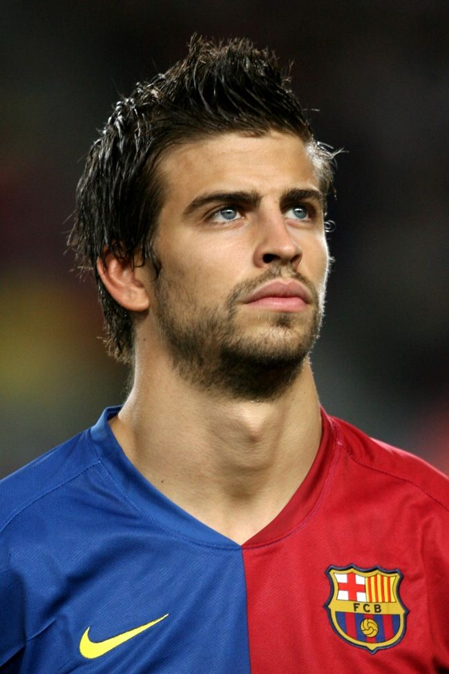 Gerard Pique - Barcelona.  This is why I loved Barcelona sooo much.  A good share of the men looked like this!