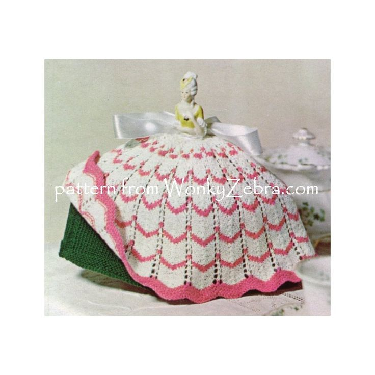 WZ901. A lovey tea cosy to knit in a pop over crinoline doll style.Fab!