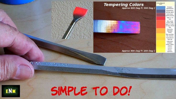How To Heat Treat / Temper Hand Tools & More! - YouTube