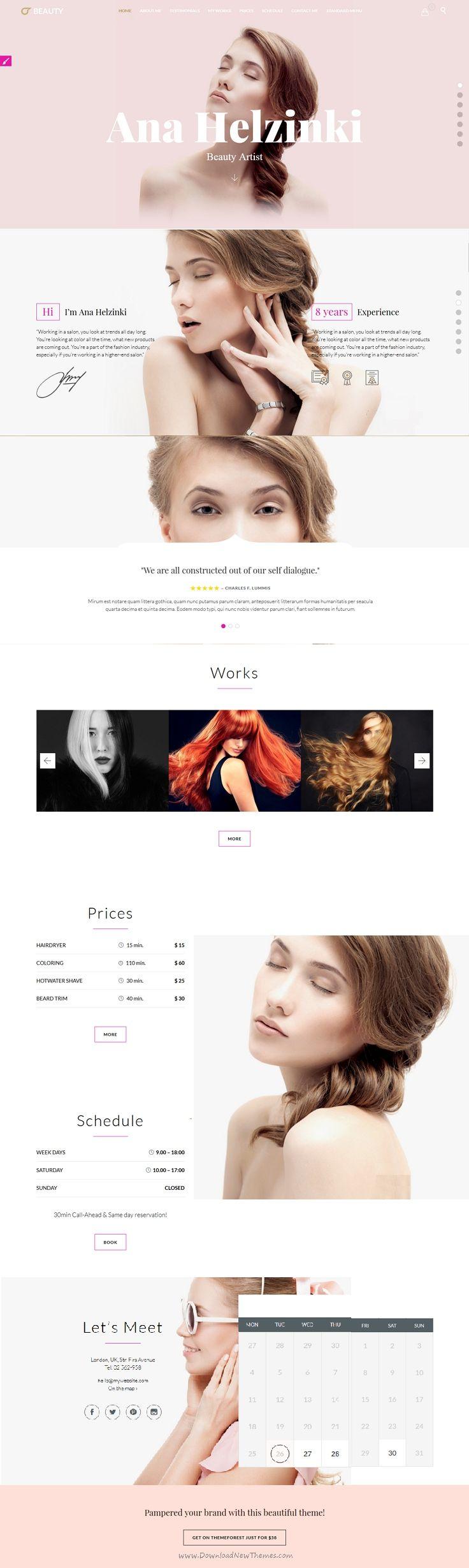 Beauty Hair Salon is wonderful multipurpose 5 in 1 #WordPress Theme for Hair #Salon , Barber Shop or #Beauty Salon website download now➝ https://themeforest.net/item/beauty-hair-salon-theme-for-hair-salon-barber-shop-and-beauty-salon/15344439?ref=Datasata