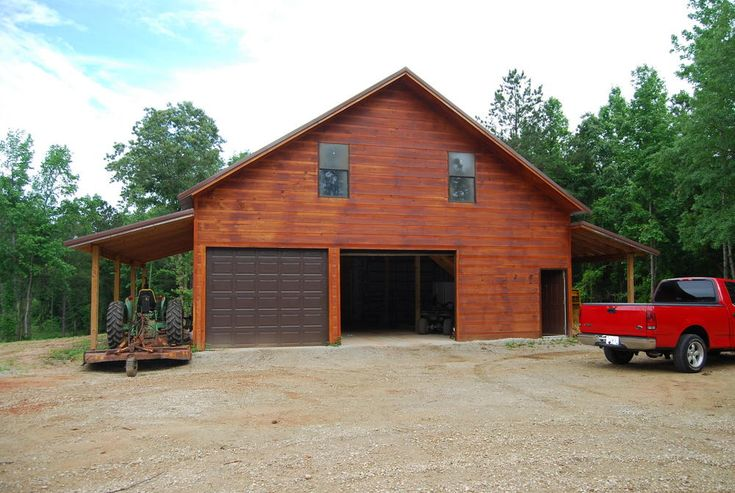 Pole garage with living quarters 19 acres in lamar for Pole barns with apartments