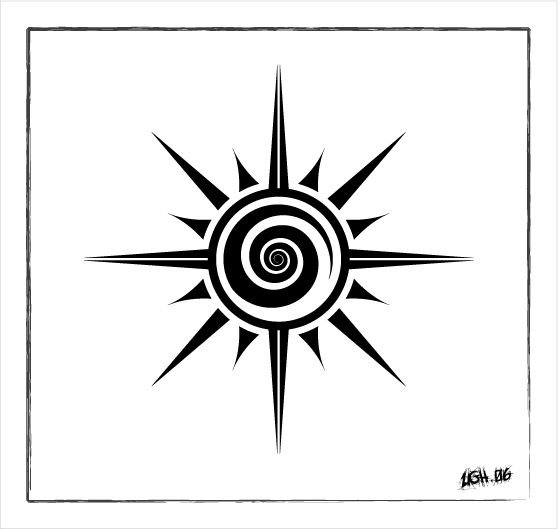 Handmade symmetry hehee ... pictures of this design being inked: