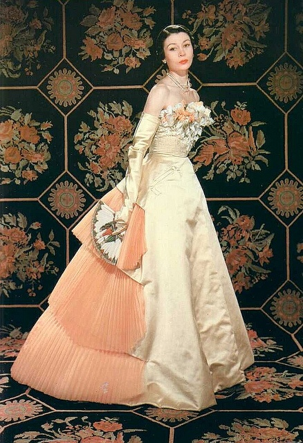 1951: Evening Dresses, Jacques Fath, Inspiration Vintage, Jaqu Fath, Vintage Fashion, Evening Gowns, 1951, 1950S Fashion, Vintage Style
