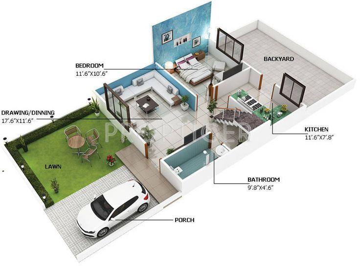 17 Best ideas about 3d House Plans on Pinterest Apartment layout