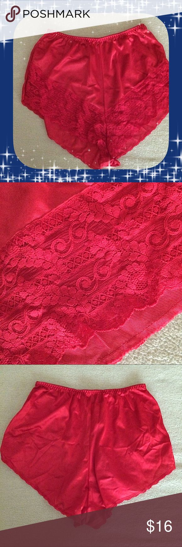 "Ashley Taylor / NWOT Red Panty / Large / Vintage Ashley Taylor / NWOT Red Panty / Large / Vintage / 100% Nylon / 4"" Side Slits.  Please feel free to make an offer - Enjoy BIG discounts on bundles & save $$$ on shipping! I package safely & ship fast.  TY & Happy Poshing! 💜💜💜 C4 Vintage Intimates & Sleepwear Panties"