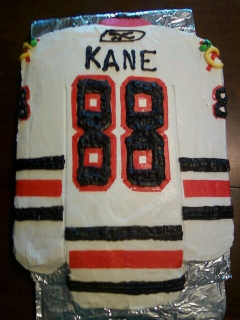 Blackhawks cake