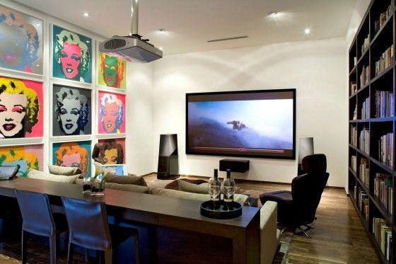 Diseño de cuarto para ver televisión