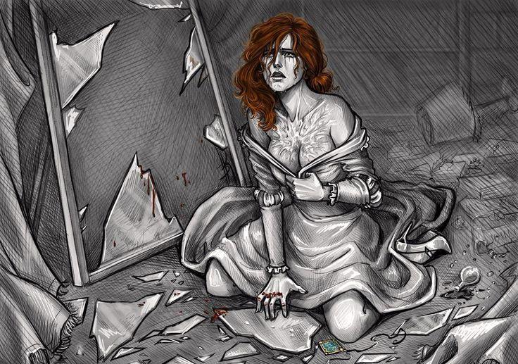 Triss Merigold with scars by Anastasia Kulakovskaya (Witcher)