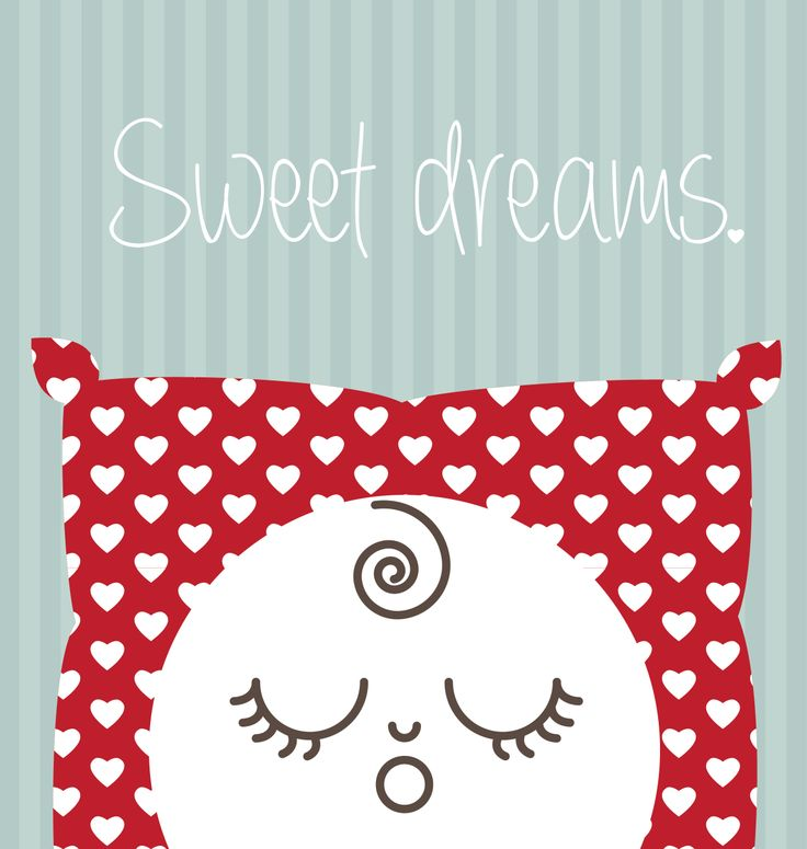Sweet Dreams on a heart pillow