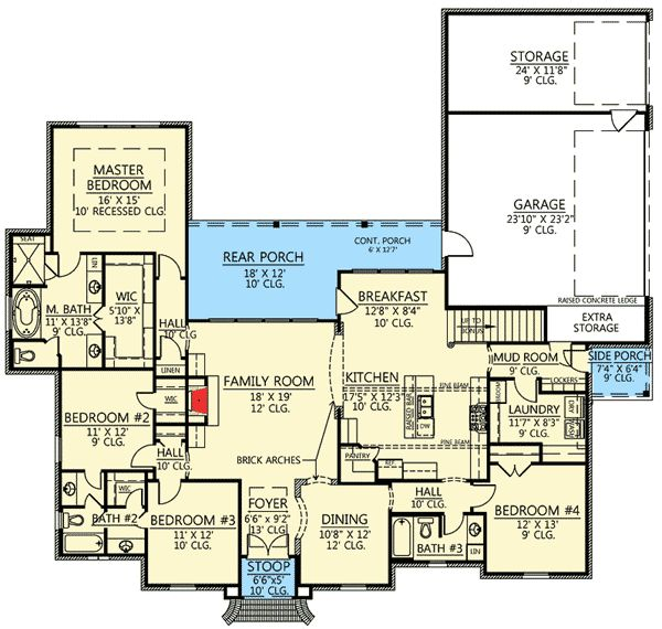 Plan 56377sm 4 bed acadian house plan with bonus room for House plans with bonus room