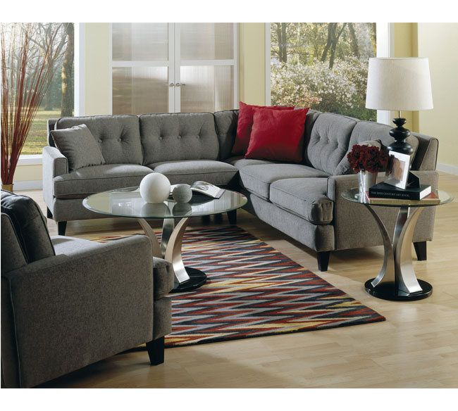 Barbara Transitional Sectional Sofa With LHF Loveseat By Palliser At  Wayside Furniture
