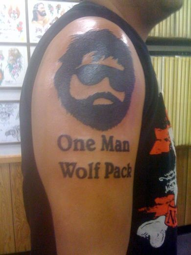Bad tattoo - wolfpack!