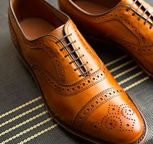 The Strand in walnut is a style that effortlessly conveys an air of achievement as well as refined elegance. #AllenEdmonds