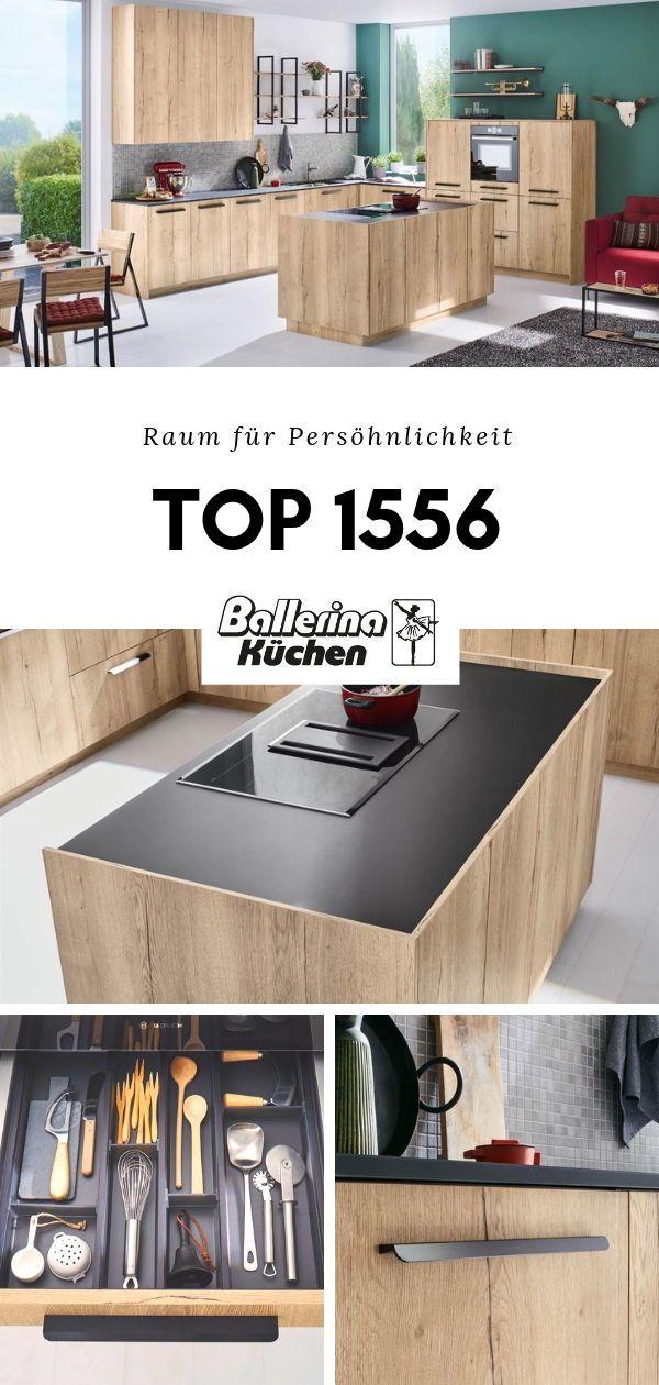 Ballerina Küche Top 1556 Front Bergeiche Nachbildung Natur Raum Für