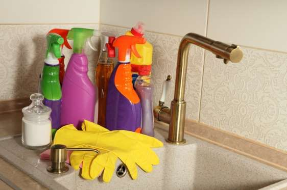 The multipurpose cleaners widely used for windows and kitchen items have 2-butoxyethanol, the ingred... - Shutterstock