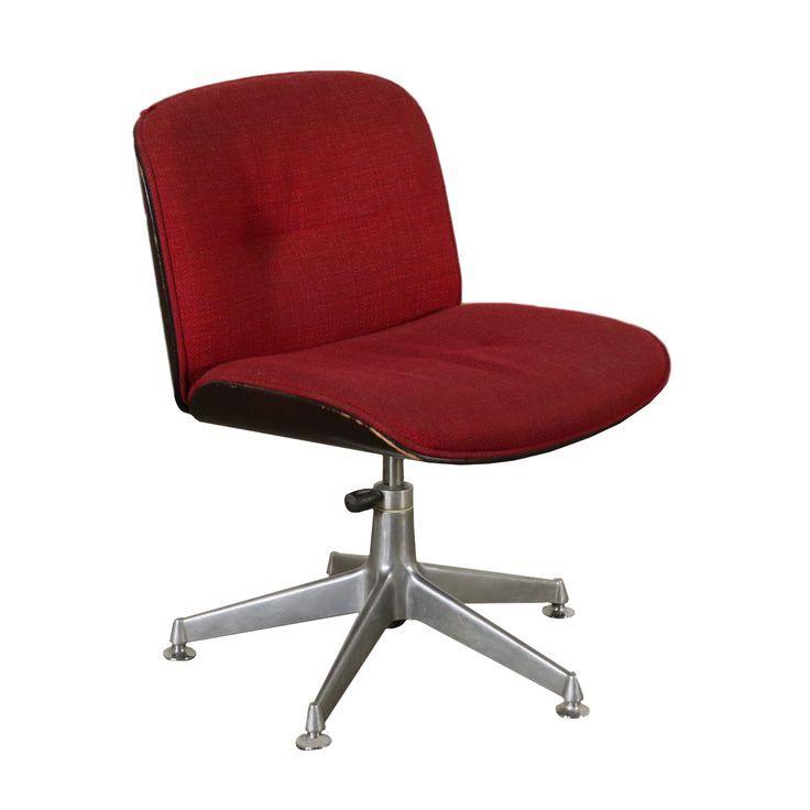 Chaise De Bureau Pivotante Ico Parisi Mousse Italie Annees 70 Office Chair Design Chair Design Swivel Office Chair
