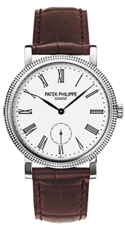 Patek Philippe 7119G-012 Calatrava White Gold - швейцарские женские часы наручные, золотые, белые