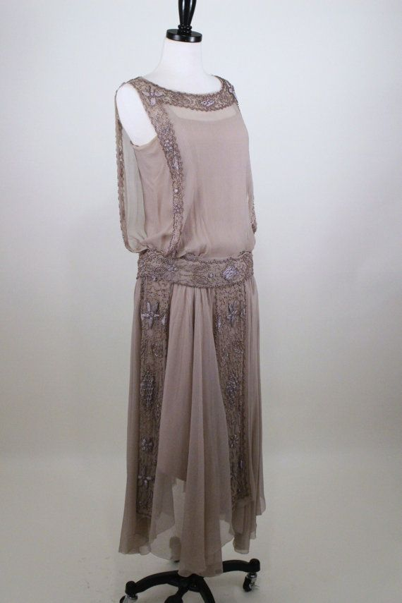 RESERVED 1920's Silk Beaded and Embroidered by BillyGoatVintage