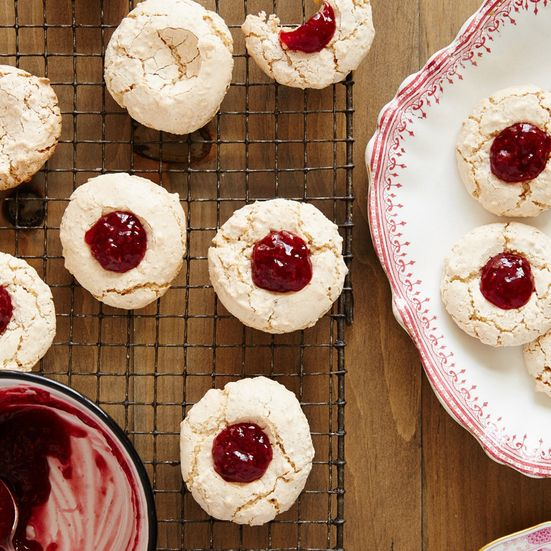 These raspberry-hazelnut macaroons are the perfect simple Christmas cookies. Get the recipe at Food & Wine.