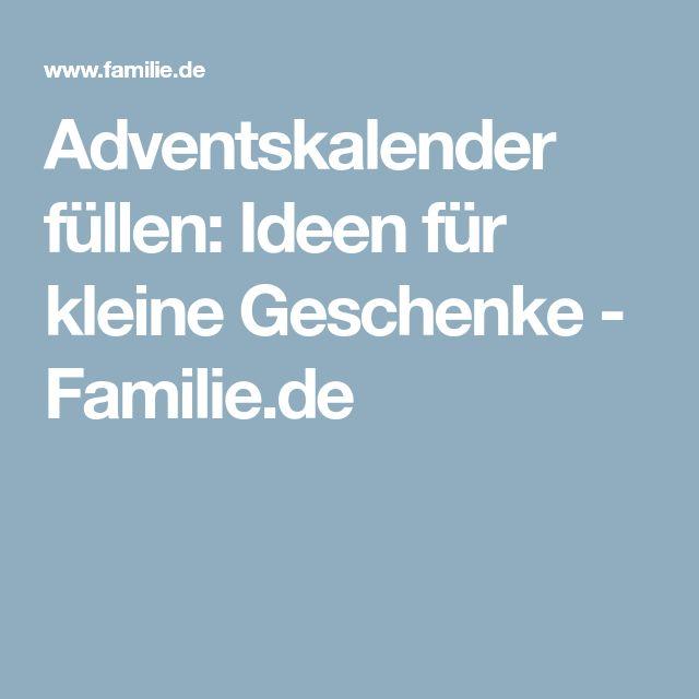 Adventskalender füllen: Ideen für kleine Geschenke - Familie.de
