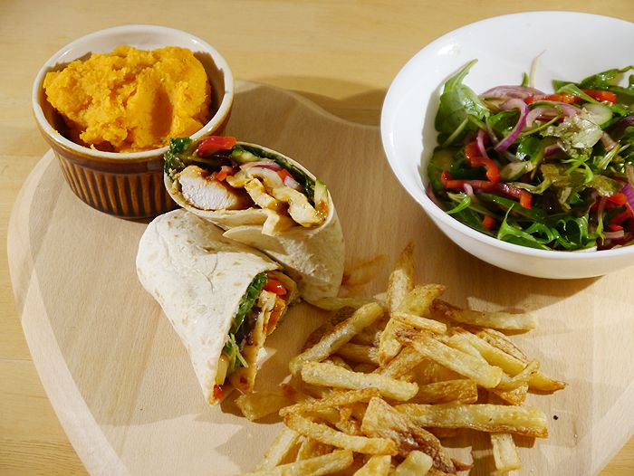 homemade nandos peri peri chicken wrap recipe 6