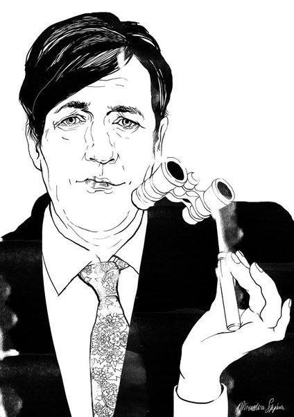 «Стивен Фрай». Софья Мироедова.  #helloposter #poster #posters #art #modernart #printart #illustrators #illustration