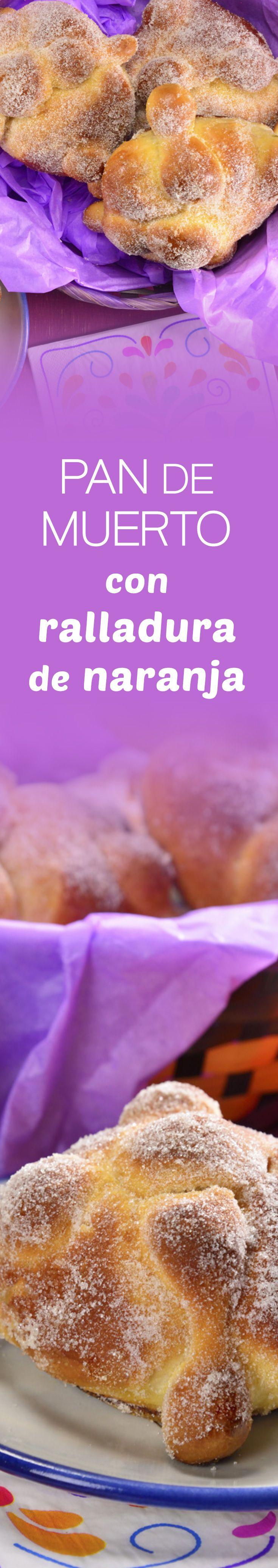 Prepara este tradicional y esponjosito pan de muerto para las fiestas de día de muertos con rico sabor a naranja y escarchado de azúcar que te encantará.