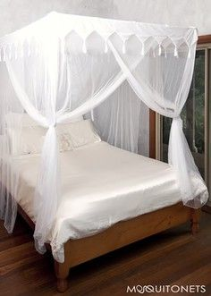 Box mosquito net - suspended with Hidden curtain rod frame