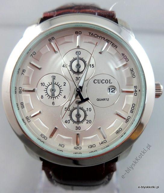 ZEGAREK Kwarcowy w kolorze srebrnym cena 59.90 PLN