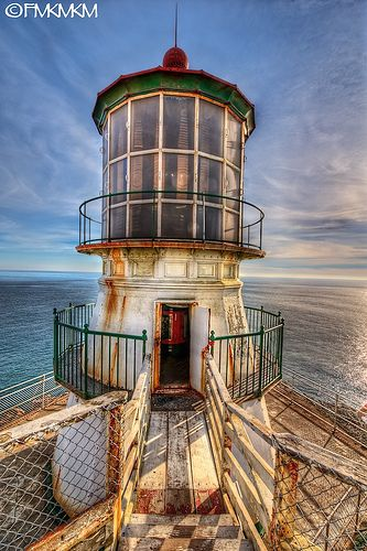 Lighthouse -The old Point Reyes lighthouse is about 1 hr north of San Francisco, near the epicenter of the big 1906 earthquake that almost completely destroyed San Francisco (during that earthquake, the lighthouse moved ~18 feet north, more than the widening of the Japanese main island caused by the recent earthquake). Point Reyes is the windiest place on the Pacific Coast and the second foggiest place (especially in summertime) on the North American continent. Photo by Francesco Marchetti