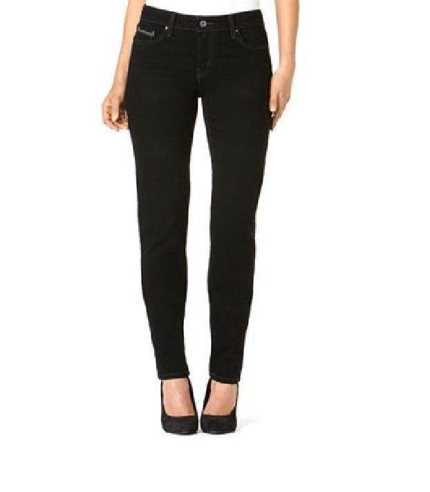 Levi&39s Jeans women&39s Mid Rise Skinny leg slim fit Black size 10