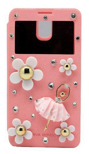 Lumiel   Daisy Ballerina View Flip Case for LG G3 Beat