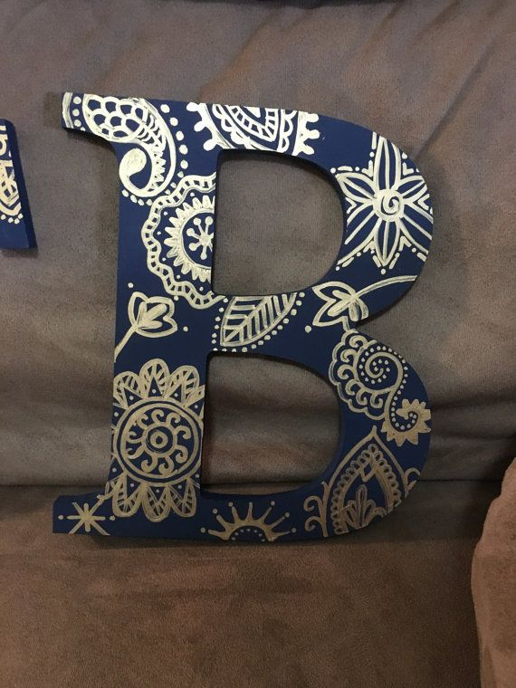 Hand painted Greek letters by CraftyGreekDesigns on Etsy