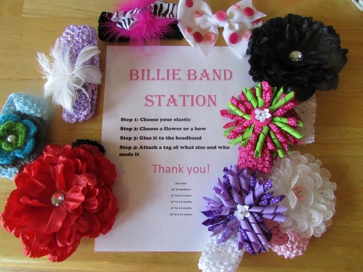 Headband Making Station Baby Shower Ideas Pinterest