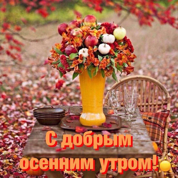 жестяные открытки с осенними цветами с добрым утром заказ материалы