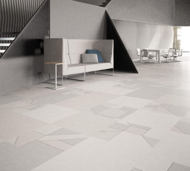 In Response To Designers Requests For Hard Surface Visuals That Go Beyond Woodgrains And Stones Geometry Offers A LVT Flooring Option With Clean Lines