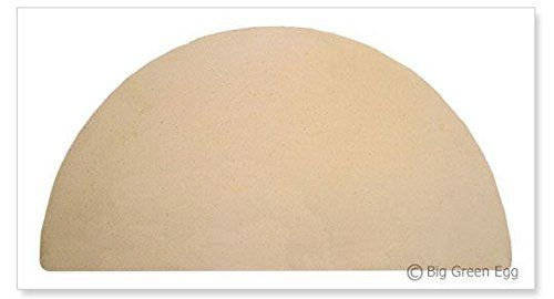 Big Green Egg EXTRA LARGE Half Moon Pizza  Baking Stone Authentic Big Green Egg Grill  Smoker Accessories are a Must for BGE Users -- Click image to review more details.