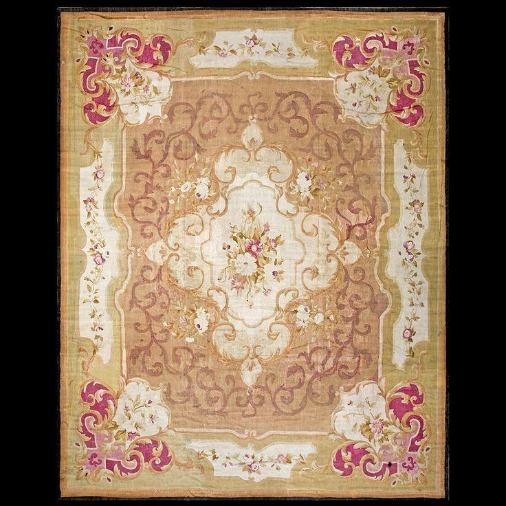 Aubusson Rug - 20-2040   European 12' 8'' x 15' 8''   Other, Origin France, Circa: 1860 #aubusson #rug #antique #nyc