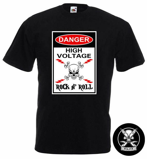 Rock n' Roll Funny T-Shirt Check out this item in my Etsy shop https://www.etsy.com/uk/listing/515288302/rock-n-roll-t-shirt-danger-high-voltage #rocknroll #rocknrollband #rocknrolltshirt #rockbandtshirt #dangerhighvoltage #rockmusician #funnyrocktshirt #rockskulltshirt #rockhumour #funnytshirts
