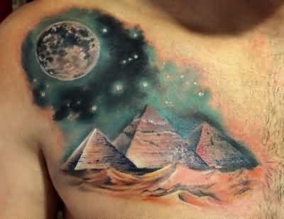 Pyramid with moon tatoos - Google Search