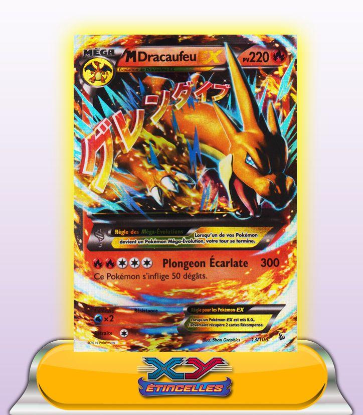 Mega Dracaufeu Ex Y 220pv 13106 Xy2 Fr Etincelles