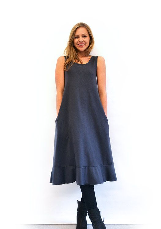 Keep warm with an 100% merino 'Flounce' dress from Smitten Tasmania.