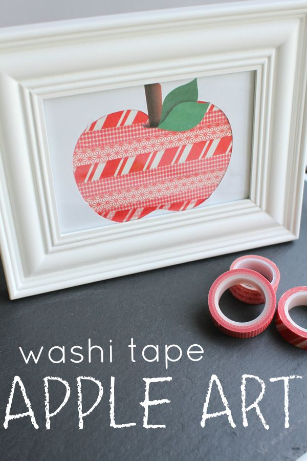 Apple Art with Washi Tape